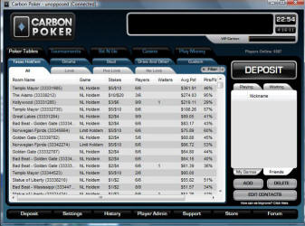 Carbon Poker - US Players Accepted
